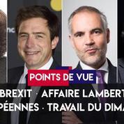 Points de vue du 22 mai : Brexit, affaire Lambert, européennes, travail du dimanche
