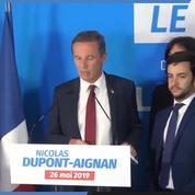 Européennes 2019 : la réaction de Nicolas Dupont-Aignan