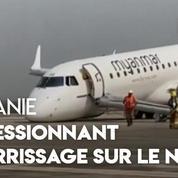 Sans train avant, cet avion effectue un impressionnant atterrissage sur le nez