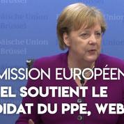 Commission européenne : Angela Merkel maintient son soutien au candidat allemand du PPE