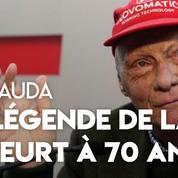 Niki Lauda, légende de la F1 et grand rescapé, est mort à 70 ans