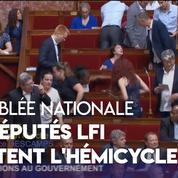 Les députés LFI quittent l'hémicycle lors des questions au gouvernement