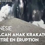 Indonésie : le volcan Anak Krakatoa entre en éruption