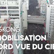 Hongkong : les images aériennes de la manifestation record