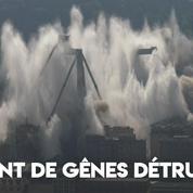 Italie : les deux dernières piles du pont de Gênes ont été détruites