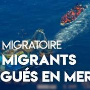 Lampedusa : des dizaines de migrants abandonnés sur un canot par des passeurs