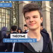 Bac philosophie : Théotime, en terminale S, n'a pas ressenti «énormément de pression»