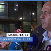 Michel Platini se dit «serein» à sa sortie de garde à vue