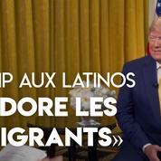 «J'adore les immigrants», lance Donald Trump à l'envi, lancé dans sa campagne de réélection