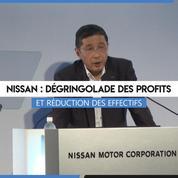 Nissan : dégringolade des profits et réduction des effectifs