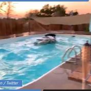 Californie : Les images impressionnantes d'une piscine mouvante pendant le séisme