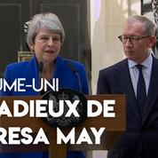 Royaume-Uni : les adieux de Theresa May au 10 Downing Street