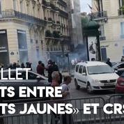 14 juillet : tensions sur les Champs-Élysées entre «gilets jaunes» et CRS