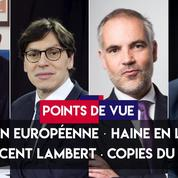 Points de vue du 3 juillet : UE, haine en ligne, Vincent Lambert, copies du bac
