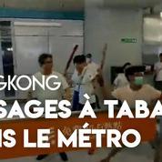 Hongkong : des manifestants pro-démocratie violemment tabassés dans une station de métro