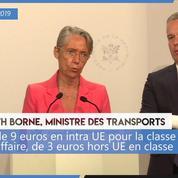 Transport aérien : Élisabeth Borne annonce une «éco-contribution»