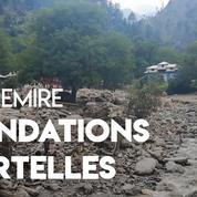 Cachemire : des inondations emportent tout sur leur passage