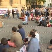 Veillée pour Vincent Lambert devant le Saint-Sulpice à Paris