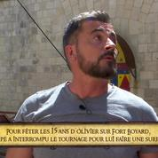 Olivier Minne en larmes dans Fort Boyard