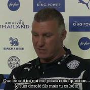 L'entraîneur de Leicester insulte un journaliste en conférence de presse