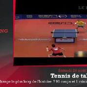 Zap'Sport : Le point le plus long de l'histoire en tennis de table ?