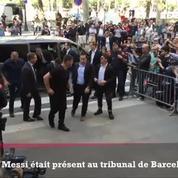 Lionel Messi assiste à son procès pour fraude fiscale