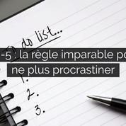1-3-5 : la règle imparable pour ne plus procrastiner