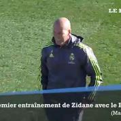 Le premier entraînement de Zinédine Zidane avec le Real Madrid