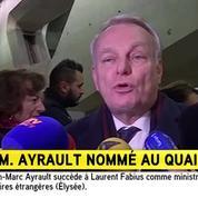 Ayrault a accepté «avec passion» son poste au Quai d'Orsay
