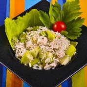 Salade de riz au poulet et pomme