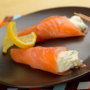Cornets de saumon fumé