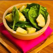 Salade d'épinards aux pommes