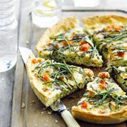Tarte aux sardines, tomates et basilic