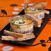 Œufs cocotte jambon et champignons