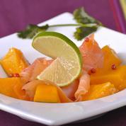 Emincé de saumon à la mangue