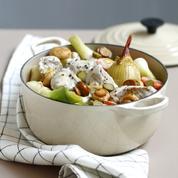 Feuilles croustillantes de moules aux légumes