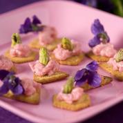 Crackers au tarama de printemps