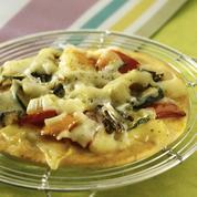 Pizzettes aux légumes d'été et à l'emmental