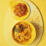 Poulet au curry et chutney ananas