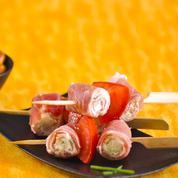 Rouleaux de jambon San Daniele avec mousse de Grana Padano et mascarpone