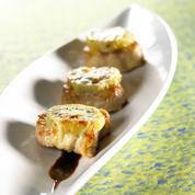 Filet de porc au fromage à raclette et aux kiwis frais