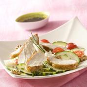 Salade de suprêmes de pintade grillées à la plancha
