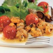 Salade tiède de tomates et coquillages