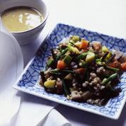 Minestrone au kombu et miso blanc