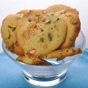 Cookies nougat, pistache et chocolat blanc