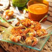 Crevettes sauce cacahuète