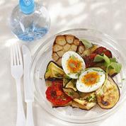 Œufs mollets sur légumes grillés
