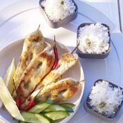 Poulet aux épices et riz au coco