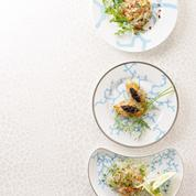 Bar et saumon en tartare