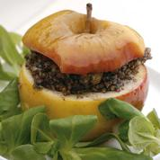 Pommes cuites, quinoa et boudin noir